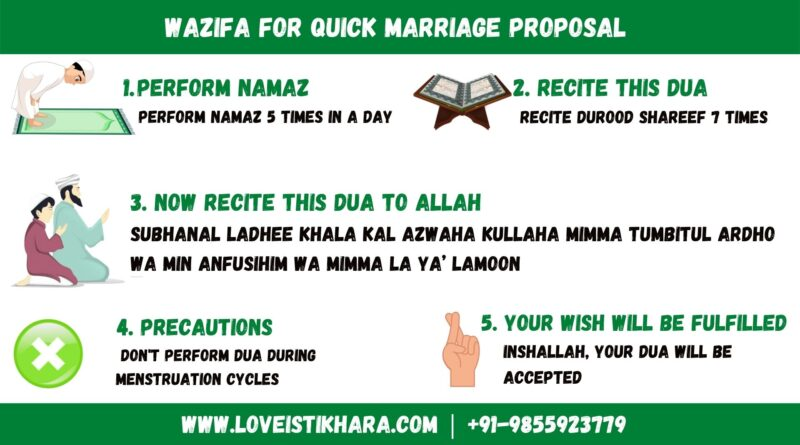 Wazifa for Early Marriage